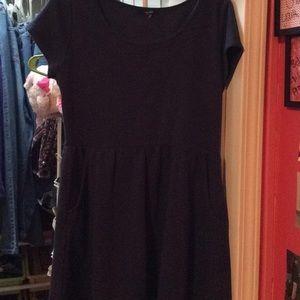 Navy Babydoll Dress
